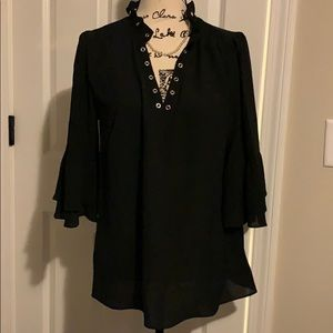 Michael Kors Fashion Basics Black Blouse NWT M